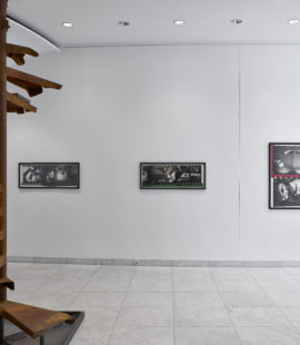 (left) Michael Stevenson, The remains of stairs, 2005/2007. Acquired in 2006; (right) Gordon Matta-Clark, Office Baroque, Antwerp Project, 1977. Acquired in 1979 with funding from the State of North Rhine-Westphalia. Photo: Achim Kukulies