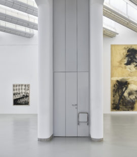 (right) Sigmar Polke, 6-part biennial cycle, 1986. Acquired in 1988-89 with funding from the State of North Rhine-Westphalia and the Mönchengladbach Museum Association.