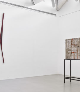 (left) Palermo, untitled, 1967. Acquired in 1972; (right) Isa Genzken, Dach, 1989. Acquired in 2019, donated to the Hoffmann Collection. Photo: Achim Kukulies