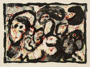 Une societé, 1962, Farb-Litografie