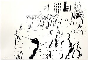 Atomblitz, 1985, Siebdruck