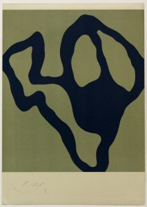 Komposition, 1954, Farb-Lithographie