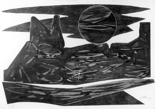La Terre, 1959, Kaltnadelradierung