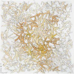 Deutsche Orgie II, 1998, Bleistift und Aquarell auf Papier