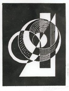 Ohne Titel, 1925, Linolschnitt (Sammlung Etzold)