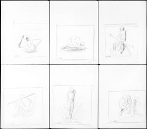 Die Welle, 1970, Bleistift auf Papier