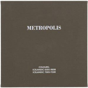 Metropolis, 2004, Acrylfarbe auf Leinwand, aud der Serie: Schwarz-Weiß-Klassiker in isländischen Farben
