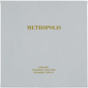 Metropolis, 2005, Acrylfarbe auf Leinwand, aud der Serie: Schwarz-Weiß-Klassiker in isländischen Farben