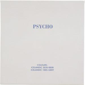 Psycho, 2005, Acrylfarbe auf Leinwand, aud der Serie: Schwarz-Weiß-Klassiker in isländischen Farben