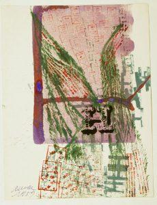 Komposition, 1959, Gouache mit Stempeln, Sammlung Etzold