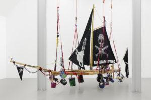 Andrea Bowers, Radical Feminist Pirate Ship Tree Sitting Platform, 2013