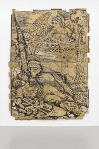 Andrea Bowers, The Capitalist Vampire (Illustration by Walter Crane), 2013