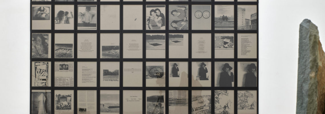 Battlefields, Gardens and Graveyards (Sentimental Scrapbook Displayed) 2002, 50 gerahmte Fotokopien auf Papier: Foto: Achim Kukulies
