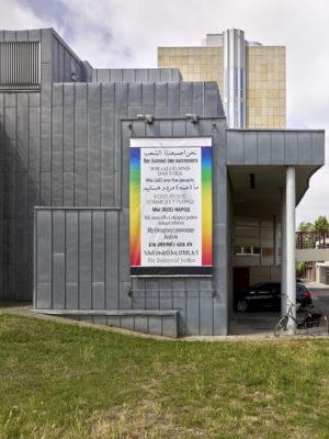 Hans Haacke, Wir (alle) sind das Volk, 2003-2017, Museum Abteiberg, 2020 (Installationsansicht), Foto: Achim Kukulies © Hans Haacke VG Bild-Kunst, Bonn 2020