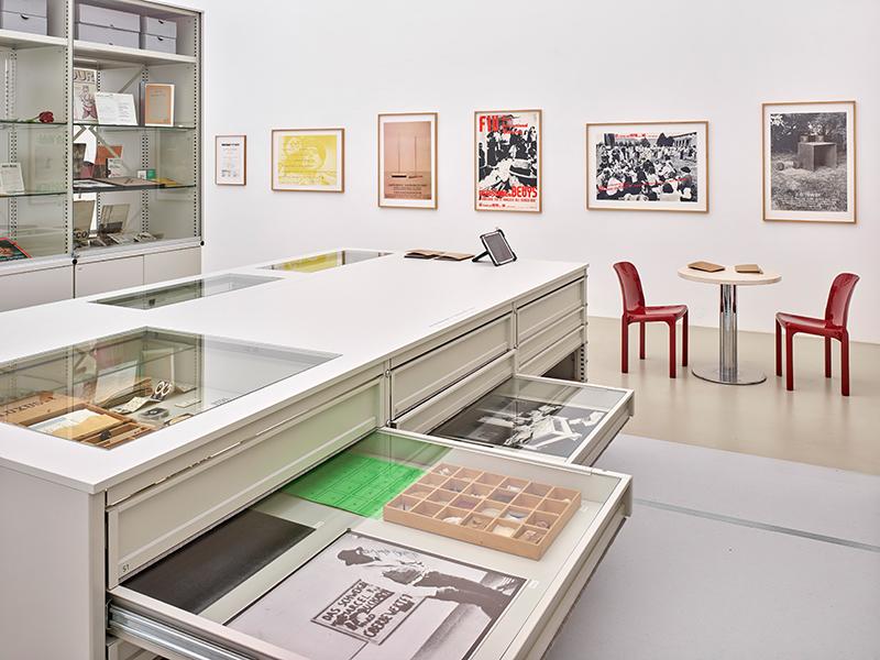 Ausstellungsansicht, Werkstattbericht Sammlung/Archiv Andersch (Beuys), Foto: Achim Kukulies